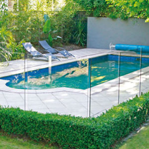 Clear glass pool fencing