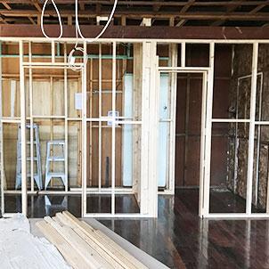 Internal wall carpentry