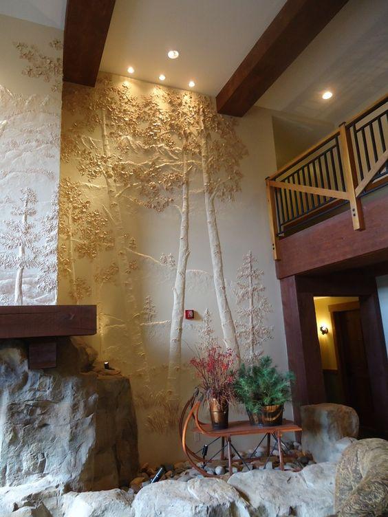 Plaster wall sculpture