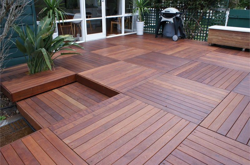 Stained wooden deck often considered the best decking material