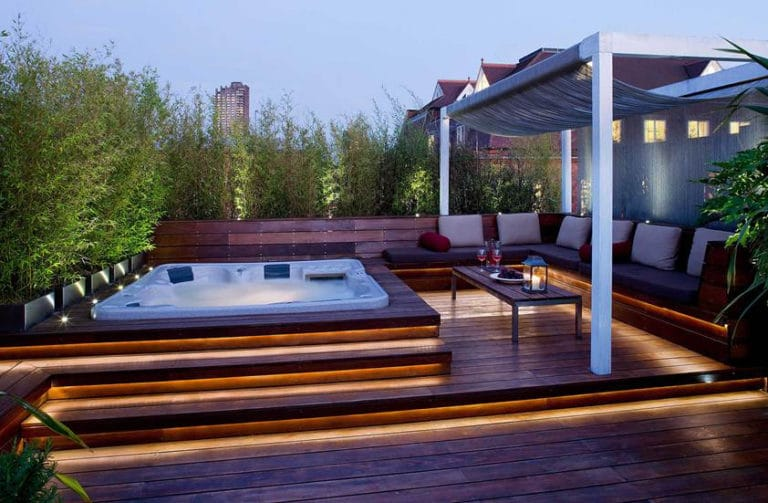 Penthouse outdoor decking