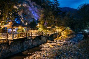 Borjomi, Samtskhe-Javakheti, Georgia. Night View Of Borjomula Mo
