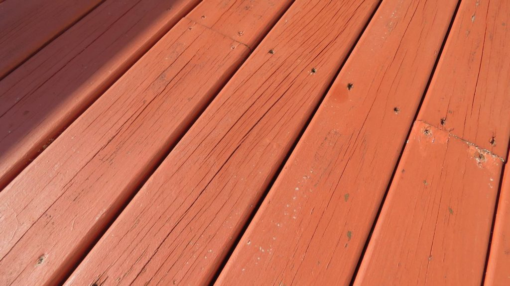 Solid wood deck stain example