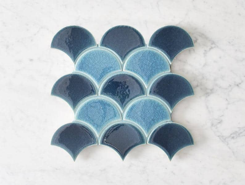 Ballina Glazed Fish Scale Tile