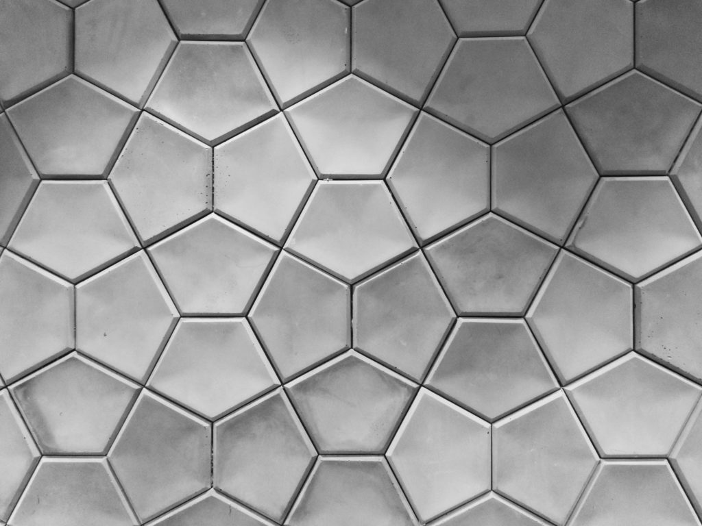 Geometrical wall tiles