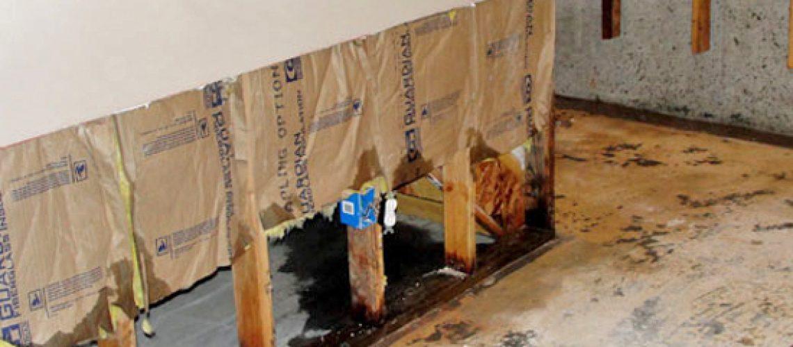 Water damaged plaster